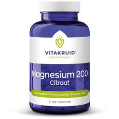 Vitakruid Magnesium 200 citraat (100 tabletten)