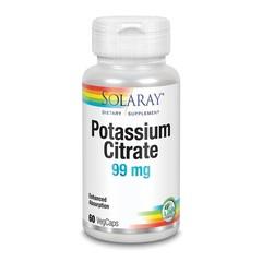 Solaray Kaliumcitraat 99 mg (60 vcaps)
