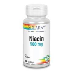 Solaray Vitamine B3 niacine 500 mg (100 vcaps)