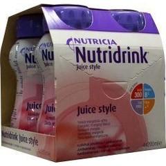 Nutridrink Juice style aardbei 4 x 200ml (1 stuks)