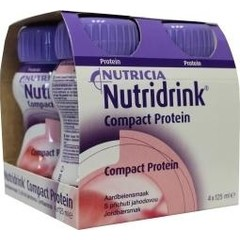 Nutridrink Compact proteine aardbei 125 ml (4 stuks)