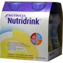 Nutridrink Vanille 200 ml (4 stuks)