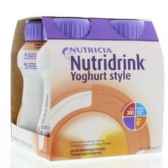 Nutridrink Yoghurt perzik/sinaas 200 gram (4 stuks)