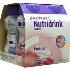 Nutridrink Protein aardbei 200 ml (4 stuks)
