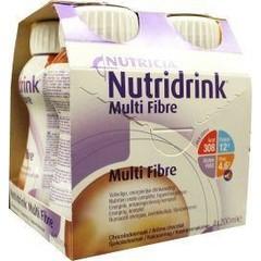 Nutridrink Multi fibre chocolade 200 ml (4 stuks)