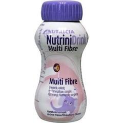 Nutrinidrink Multi fibre aardbei (200 ml)