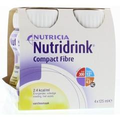 Nutridrink Compact fibre vanilla 125 ml (4 stuks)