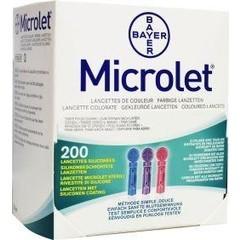 Bayer Microlet lancet gekleurd P6571 (1 stuks)