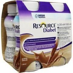 Resource Diabet koffie 200 ml (4 stuks)