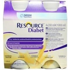 Resource Diabet vanille 200 ml (4 stuks)