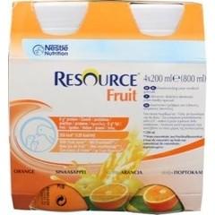 Resource Fruit sinaasappel 200 ml (4 stuks)