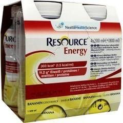 Resource Energy banaan 200 ml (4 stuks)
