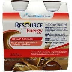 Resource Energy koffie 200 ml (4 stuks)