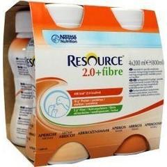 Resource 2-0 Fibre abrikoos 200 gram (4 stuks)