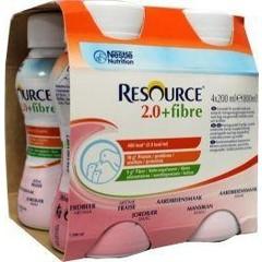 Resource 2-0 Fibre aardbei 200 gram (4 stuks)