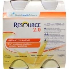 Resource 2-0 Vanille 200 gram (4 stuks)