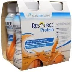 Resource Protein abrikoos 200 gram (4 stuks)