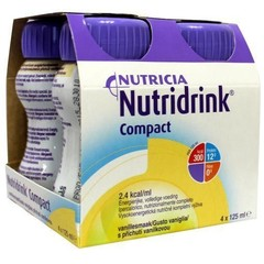 Nutridrink Compact vanille 125 ml (4 stuks)