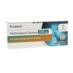 Sanias Mebendazol anti-wormtabletten 100 mg (2 stuks)