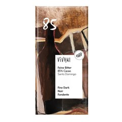 Vivani Chocolade puur delicaat 85% Santo Domingo (100 gram)