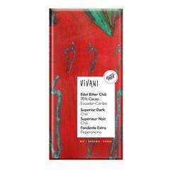 Vivani Chocolade puur superieur chili Ecuador (100 gram)