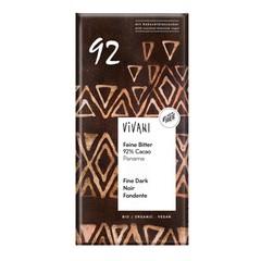 Vivani Chocolade puur delicaat 92% Panama (80 gram)