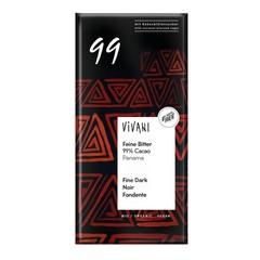 Vivani Chocolade puur delicaat 99% Panama (80 gram)