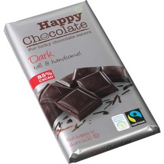 Happy Happy chocolate dark 85% (180 gram)