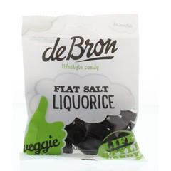 De Bron Flat salt liquorice (100 gram)