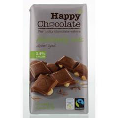 Happy Happy chocolate melk 34% hazelnoot (180 gram)