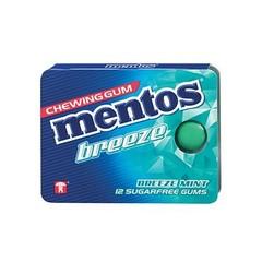 Mentos Gum breeze mint (12 stuks)