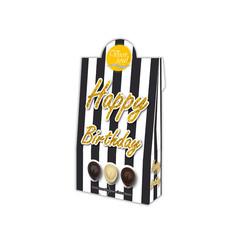 Voor Jou! Cadeau doos black & white happy birthday (100 gram)