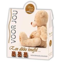 Voor Jou! Cadeau doos trendy beertjes dikke knuffel (100 gram)
