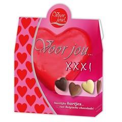 Voor Jou! Cadeau doos hartjes XXX (100 gram)