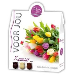 Voor Jou! Cadeau doos trendy bloemen zomaar (100 gram)