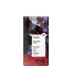 Vivani Chocolade puur met cassis (100 gram)
