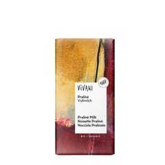 Vivani Chocolade melk praline nougat (100 gram)