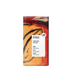 Vivani Chocolade melk met amandelen (100 gram)