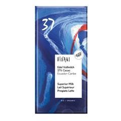 Vivani Chocolade melk superieur 37% Ecuador (100 gram)