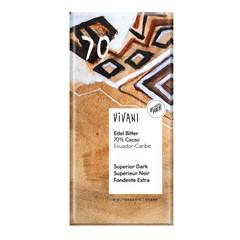 Vivani Chocolade puur superieur 70% Ecuador (100 gram)