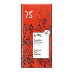 Vivani Chocolade puur delicaat 75% Panama (80 gram)