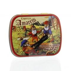 Amarelli Laurierdrop blikje munt chicchi (20 gram)