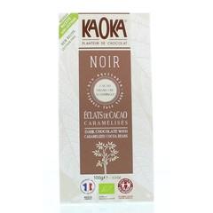 Kaoka Chocolade reep noir feves de cacao (100 gram)