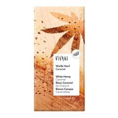 Vivani Chocolade wit hennep karamel (80 gram)