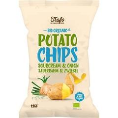 Trafo Chips sour cream & onion (125 gram)