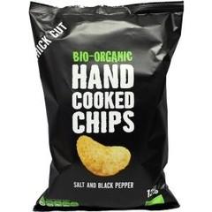 Trafo Chips handcooked zout / zwarte peper (125 gram)