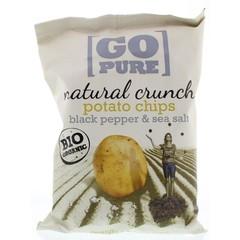 Go Pure Chips handcooked black pepper & seasoning (125 gram)