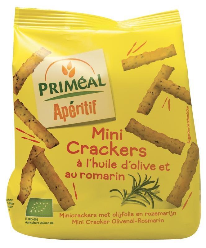 Primeal Primeal Aperitive mini crackers olijfolie en rozemarijn (100 gram)