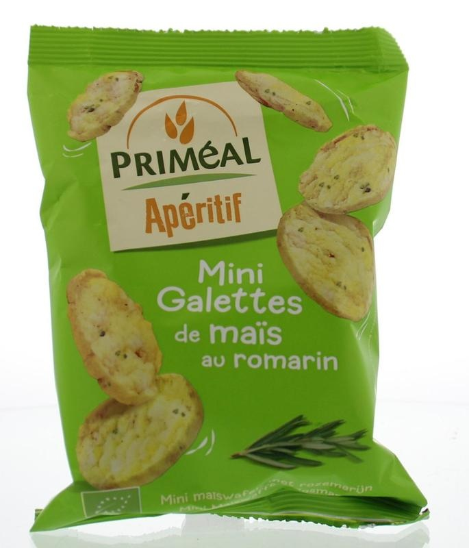 Primeal Primeal Aperitive mini maiscrackers olijfolie rozemarijn (50 gram)
