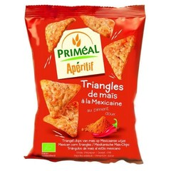Primeal Aperitive mais driehoek Mexicaans (50 gram)